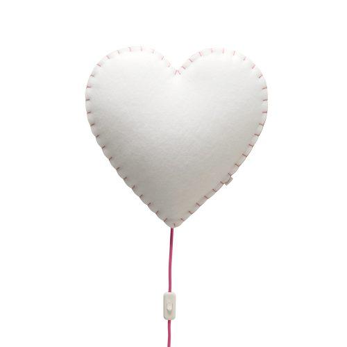 Lampara Corazon rosa – Wall lamp Heart pink